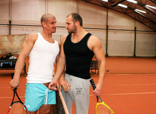 Out-In-Public-Tomm-and-Max-bareback-sex-uncut-cocks-Amateur-Gay-Porn-01 Amateur Muscle Jocks Barebacking In Public At An Indoor Tennis Court