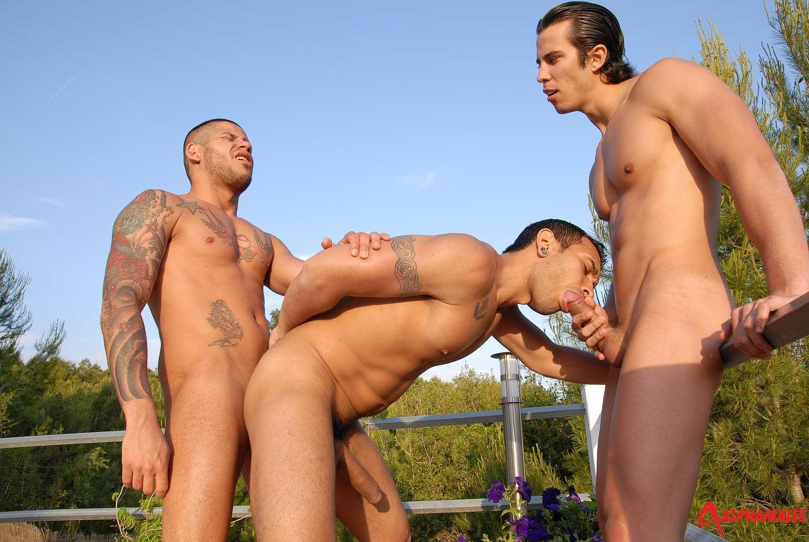 Alpha-Males-Lucio-Saints-and-Mailkel-Cash-and-Fabio-Costa-Lucio-Saints-Getting-Bottomed-Amateur-Gay-Porn-09 RARE: Lucio Saints Bottoms And Receives A Cum Facial