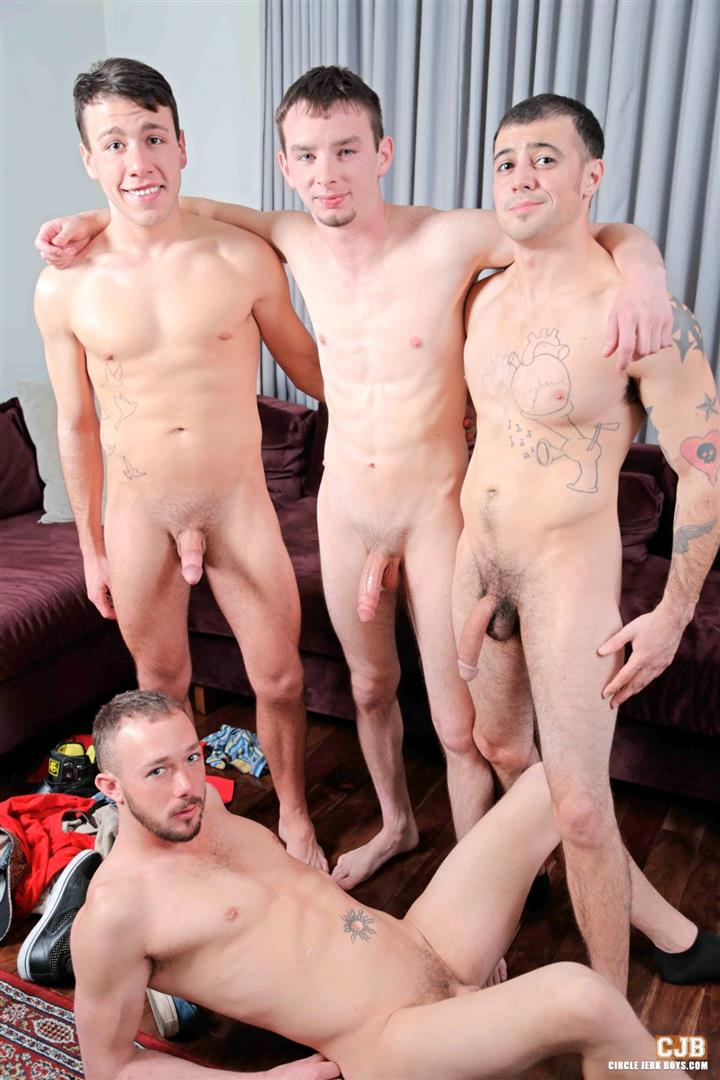 Circle-Jerk-Boys-Kirk-Cummings-and-Trent-Jackson-and-Jake-Jammer-and-Blake-Stone-Cock-Sucking-Young-Guys-Amateur-Gay-Porn-14 4 Hard Cocks, 4 Young Men, 4 Cock Suckers, 4 Loads Of Cum