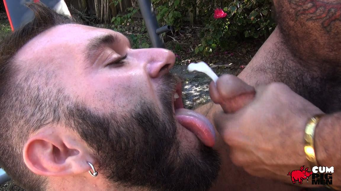 Cum-Pig-Men-Alessio-Romero-and-Ethan-Palmer-Hairy-Muscle-Latino-Daddy-Cocksucking-Amateur-Gay-Porn-18 Hairy Latino Muscle Daddy Gets A Load Sucked Out And Eaten