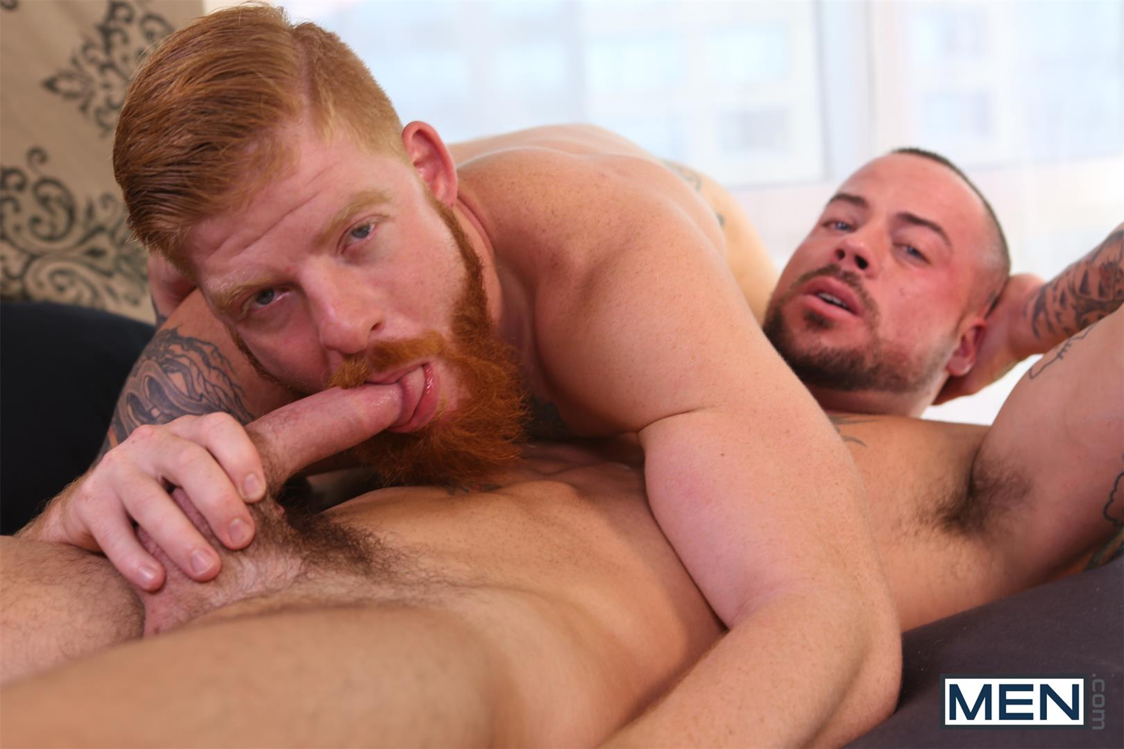 Men-Bennett-Anthony-and-Sean-Duran-Naked-Redhead-Muscle-Guys-Fucking-Amateur-Gay-Porn-10 Bennett Anthony Fucking A Muscle Hunk With His Big Ginger Cock