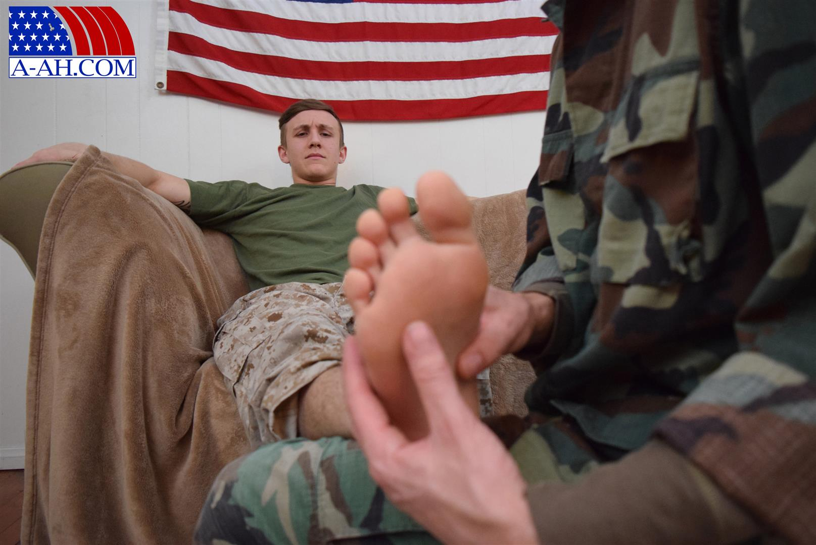 All American Heroes Jett and Alex Naked Army Guy Gets First Gay Blowjob Amateur Gay Porn 03 Straight Army Private Gets A Foot Massage and His First Gay Blow Job