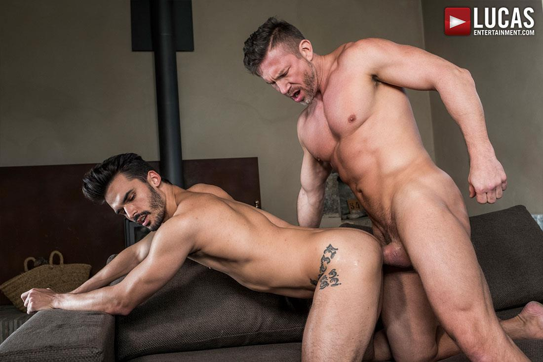 Lucas-Entertainment-Tomas-Brand-and-Aaden-Stark-Big-Uncut-Cock-Daddy-Barebacking-11 Hung Muscle Daddy Tomas Brand Barebacking Aaden Stark With His Big Uncut Dick