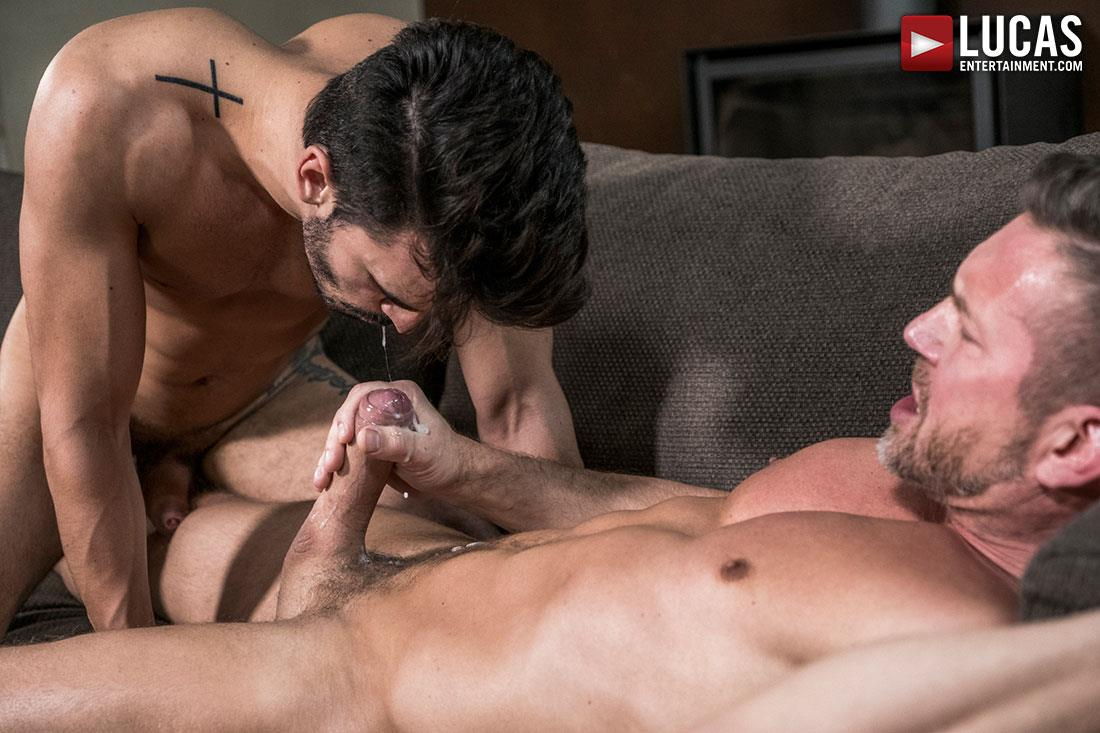 Lucas-Entertainment-Tomas-Brand-and-Aaden-Stark-Big-Uncut-Cock-Daddy-Barebacking-20 Hung Muscle Daddy Tomas Brand Barebacking Aaden Stark With His Big Uncut Dick
